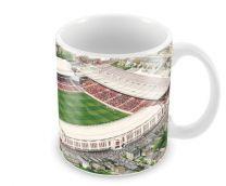 Highbury Stadia Fine Art Ceramic Mug - Arsenal Football Club