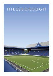 Hillsborough Stadium 'The Kop' Art Illustration Poster - Sheffield Wednesday Football Club