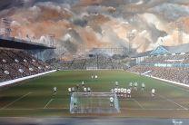 Hillsborough Stadium '1962' Fine Art Canvas Print - Sheffield Wednesday Football Club