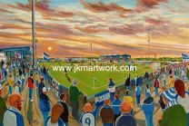 Holker Stadium Fine Art Print - Barrow AFC
