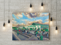 Home Park Stadium Fine Art Canvas Print - Plymouth Argyle Football Club