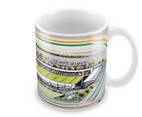 Huish Park Stadia Fine Art Ceramic Mug - Yeovil Town Football Club