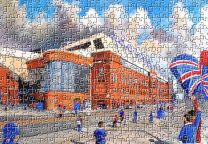 Ibrox Stadium 'Going to the Match' Fine Art Jigsaw Puzzle - Rangers Football Club