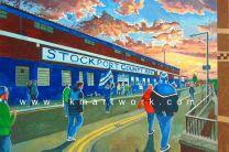 Edgeley Park Stadium 'Going to the Match' Fine Art Print - Stockport County Football Club