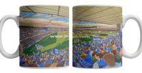 Portman Road Stadium Fine Art Ceramic Mug - Ipswich Town Football Club