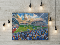 John Smith's Stadium Fine Art Canvas Print - Huddersfield Town Football Club