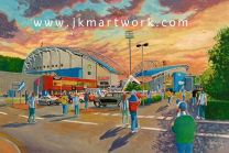 John Smith's Stadium 'Going to the Match' Fine Art Print - Huddersfield Town Football Club
