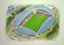 John Smith's Stadia Fine Art Original Watercolour Painting - Huddersfield Town Football Club