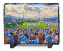Leeds Road Stadium Fine Art Slate Presentation - Huddersfield Town Football Club