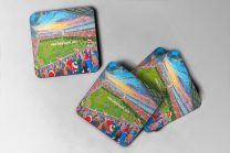 Leigh Sports Village Stadium Fine Art Coasters Set - Leigh Centurions Rugby League