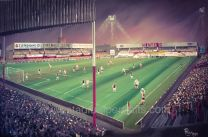 Sincil Bank Stadium Fine Art Box Canvas Print 'v West Ham United 1982 Milk Cup' - Lincoln City Football Club