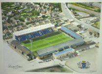 London Road Stadium Fine Art Original Watercolour Painting - Peterborough United Football Club