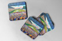 Moss Rose Stadium Fine Art Coasters Set - Macclesfield Town Football Club