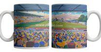 Moss Rose Stadium Fine Art Ceramic Mug - Macclesfield Town Football Club