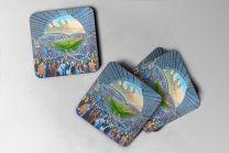 Macron Stadium Fine Art Coasters Set - Bolton Wanderers Football Club