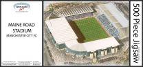Maine Road Stadia Fine Art Jigsaw Puzzle - Manchester City Football Club