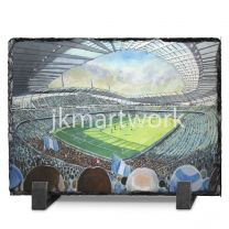 Etihad Stadium Fine Art Slate Presentation - Manchester City Football Club