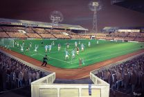 Maine Road Stadium '1967-68 League Champions' Fine Art Box Canvas Print - Manchester City Football Club