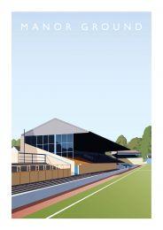 Manor Ground Stadium Art Illustration Poster - Oxford United Football Club
