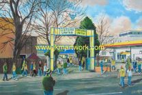 Manor Ground Stadium 'Going to the Match' Fine Art Print - Oxford United Football Club