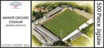 Manor Ground Stadia Fine Art Jigsaw Puzzle - Oxford United Football Club