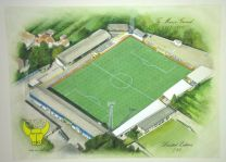 Manor Ground Stadium Fine Art Original Watercolour Painting - Oxford United Football Club
