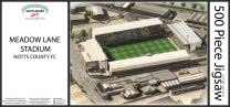 Meadow Lane Stadia Fine Art Jigsaw Puzzle - Notts County Football Club