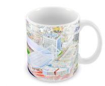 Millennium Stadia Fine Art Ceramic Mug - Wales Rugby Union