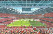 Millennium Stadium(Principality) Fine Art Print - Wales Rugby Union