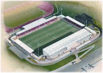 Sixfields Stadia Fine Art Print - Northampton Town Football Club