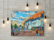 Molineux Stadium 'Going to the Match' Fine Art Canvas Print - Wolverhampton Wanderers Football Club