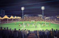 Molineux Stadium Fine Art Box Canvas Print 'Wolves v Juventus 1972' - Wolverhampton Wanderers Football Club