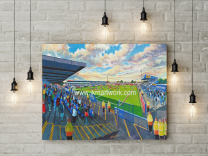 Moss Rose Stadium Fine Art Canvas Print - Macclesfield Town Football Club