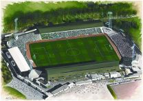 Home Park Stadia Fine Art Print - Plymouth Argyle Football Club