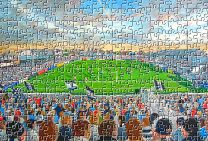 Naughton Park Stadium Fine Art Jigsaw Puzzle - Widnes Vikings Rugby League Club
