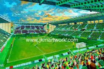Easter Road NEW Stadium Fine Art Print - Hibernian Football Club