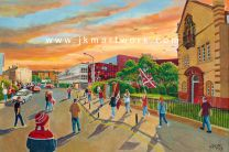 Tynecastle Park Stadium 'Going to the Match' Fine Art Print - Heart of Midlothian Football Club