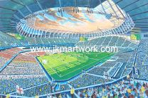 White Hart Lane *NEW* Stadium Fine Art Print - Tottenham Hotspur Football Club