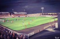 Somerton Park Stadium Fine Art Box Canvas Print 'v Carl Zeiss Jena European Cup QF 1981' - Newport County Football Club