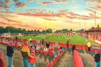 North Street Stadium Fine Art Print - Alfreton Town Football Club