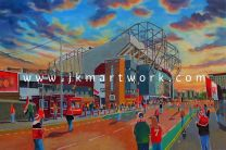 Old Trafford Stadium 'Going to the Match' Fine Art Print - Manchester United Football Club