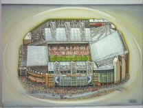 Old Trafford Stadium Fine Art Original Oil Painting - Manchester United Football Club