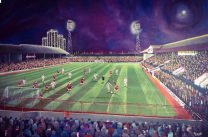 Brisbane Road Stadium Fine Art Box Canvas Print 'v Middlesbrough FA Cup QF 1978' - Leyton Orient Football Club