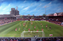 Brisbane Road Stadium Fine Art Box Canvas Print 'v Wrexham Play Off Final 1989' - Leyton Orient Football Club