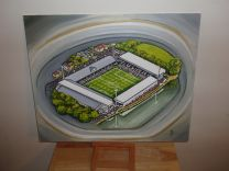 Craven Cottage Stadium Fine Art Original Oil Painting - Fulham Football Club