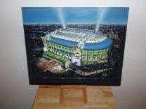 Amsterdam Arena Stadium Fine Art Original Oil Painting - Ajax Football Club