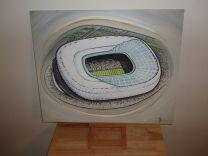 Allianz Arena Stadium Fine Art Original Oil Painting - Bayern Munich Football Club
