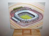 Feyenoord (De Kuip) Stadium Fine Art Original Oil Painting - Feyenoord Football Club