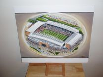 DW Stadium Fine Art Original Oil Painting - Wigan Athletic Football Club