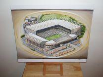 St James' Park Stadium Fine Art Original Oil Painting - Newcastle United Football Club